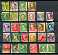 Set of  28  Used  Washington & Stamps   -  F/VF  (IN FINE / VERY FINE CONDITION)