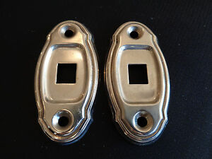 Vintage RARE FANCY DOME LIGHT DOOR LOCK ESCUTCHEON TOGGLE SWITCH PLATE