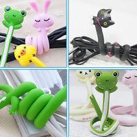 Cute Animal Earphone Headphone Wrap Cord Wire Cable Holder Winder Organizer AA