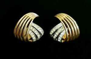 "Vintage Signed ""MB"" Marcel Boucher Rhinestone Earrings"