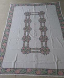 Oblong 12 Seat Linen Tablecloth Plus 12 Matching Serviettes 288cm x 180cm KC797