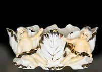 Vintage Cherubs Planter Royal Sealy White Cherubs Gold Japan