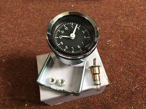 Austin Mini   Smiths Type 52 Mm Car Clock  With Chrome Rim Illuminated New Item