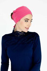 Fashionable Tie back under scarf Hijab Bonnet Cap