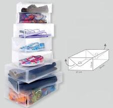 Schuhbox Herren | 2er Set Schuhkarton Sneaker | Transparente Aufbewahrungsbox