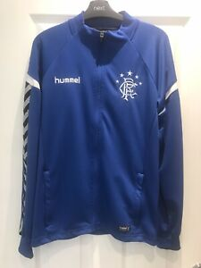RARE - Mens Glasgow Rangers Players Hummel Players Training Zipper Top Size M