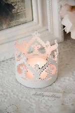 Krone Windlicht Kerzenleuchter Metallkrone Shabby Chic Vintage Landhaus