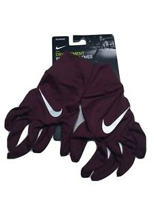 Nike Dri-Fit Women's Running Dry Element Gloves Touch-Screen Sz Medium Burgundy