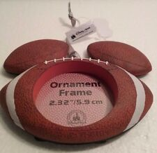 Disney Parks Mickey Mouse Icon FOOTBALL  Christmas Ornament Picture Frame NWT