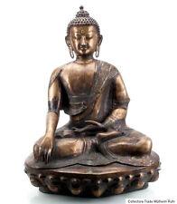 Nepal 19. Jhd. Großer Antiker Nepalesischer Bronze Buddha Shakyamuni - Bouddha