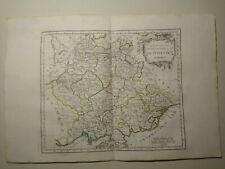 German Empire, 1784 HAND COLORED MAP DE VAUGONDY