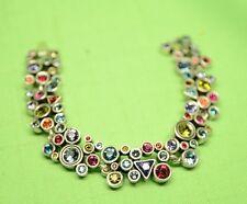 "GORGEOUS Patricia Locke 7 1/2"" Bracelet Silver Tone JOY Swarovski Crystals NWOT"