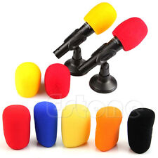 Colors Handheld Stage Microphone Windscreen Sponge Foam Karaoke Audio Mic Cover