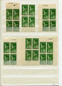 NEW ZEALAND HEALTH 1947-67 PLATE, IMPRINTS, MARGINAL MARKINGS (65) MINT/MNH