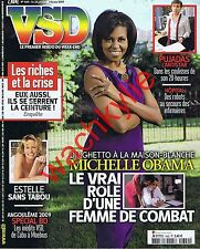 VSD n°1640 du 28/01/2009 Michelle Obama Pujadas Angoulème Lefebure