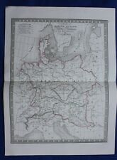 Original antique map ANCIENT GERMANY, PANNONIA, RHETIA, NORICUM, Monin, 1837