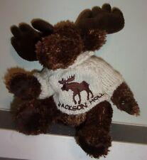 Unipak Plush Moose 8 INCH JACKSON HOLE, WYOMING SWEATER GREAT SOFT FREE SHIPPIN