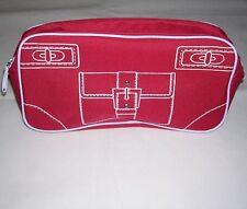 """Clinique Red Makeup Clutch/Pouch/Case/Bag. Purse Image on Front. 11"""" x 6"""" x 3"""""""