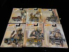 HOT WHEELS POP CULTURE STAR WARS BOUNTY HUNTER SERIES SET OF 6 WITH REAL RIDERS