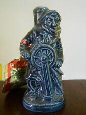 Statuina Timoniere in ceramica pugliese blu liquore Beltion mignon OMA19