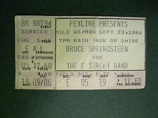 1985 BRUCE SPRINGSTEEN Concert Ticket Stub Denver, CO