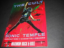 The Cult Maximum Rock & Roll 1989 U.K. Promo Display Ad mint condition