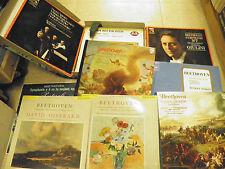 coffret de  9 vinyles 33 tours  Beethoven symphonie n° 5,6, 7,9, sonate concerto