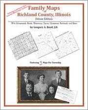 Family Maps Richland County Illinois Genealogy IL Plat