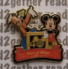 Disney Pin WDW 40 Years of Magic Lanyard Set Pin Only Goofy and Mickey