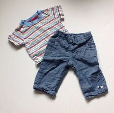 Mothercare & TU Baby Boys T-shirt & Bottoms Outfit 3-6 Months