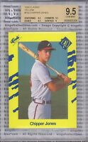 CHIPPER JONES ROOKIE 1990 Classic Yellow #T92 Graded BGS 9.5 GEM MINT Braves