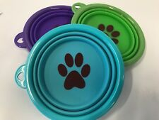 Pop up water bowl - small pet dog cat - three colours