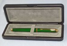 Parker 75 Malachite Green Laque Fountain Pen. 14K Gold Med Nib, Near Mint Boxed.
