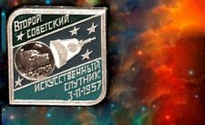 Space pinback.SPACE.LAIKA.LAYKA.LIMITED EDIT.RARE .1957 original.***