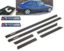BMW E36 4dr saloon touring & M3 M sport wide black side door mouldings trim set