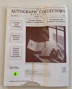 The Autograph Collector's Magazine June/July 1991 Vol 6 No 6 Jon Provost Lassie