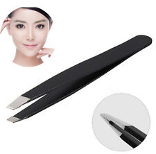 Professional Stainless Steel Slant Tip Eyebrow Tweezer Hair Removal Makeup Tools
