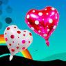 18'' Love Heart Shape Round Dots Foil Balloon Wedding Party Birthday Decoration