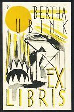 RARE Bookplate Exlibris by De Ploeg artist Johan Dijkstra c.1935