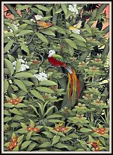 """Original Balinese Painting  """"Queen of the Jungle""""  (43.75"""" H x 32.5"""" W)  Signed"""