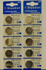 TEN (10) CR2025 BLUE DOT  LITHIUM BATTERY EXTRA LONG LIFE BATTERY!