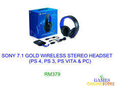PS4 SONY Gold Wireless Stereo Headset ★Brand New & Sealed★