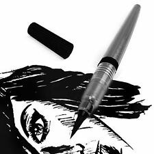 Pentel Black Permanent Brush Marker Pen Art Colour Pigment