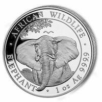 Silbermünze - Somalia Elefant Silber -  african wildlife - 2021
