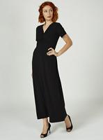 Kim & Co Brazil Knit Cap Sleeve Maxi Dress Regular Length Black XL
