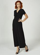 Kim & Co Brazil Knit Cap Sleeve Maxi Dress Petite Length Black XL