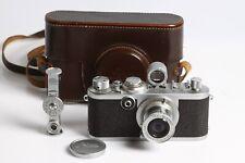 Leica IF mit Leitz Elmar 3,5/5 red scale + Sucher + E-Messer + passende Tasche
