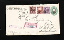 Slayton MN Registered 1898 Bureau 8c 5c 3c NY Registry Switzerland Cover PSE 2t