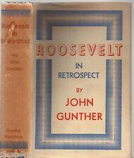 Vintage 1950 ROOSEVELT IN RETROSPECT John Gunther (HCDJ 1st Ed) AMERICAN HISTORY