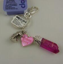 unicorn power crystal heart  bling Key chain keychain charm key chain bag tag